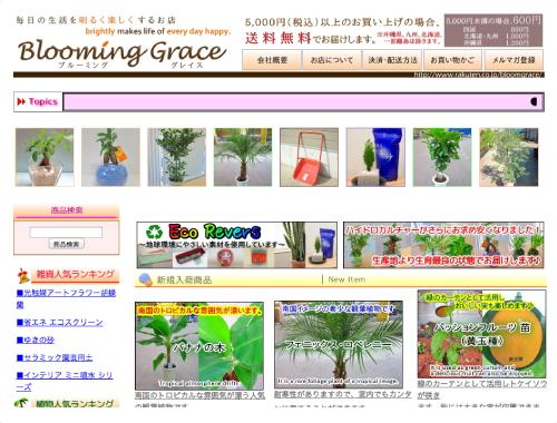 毎日の生活を明るく楽しくする、生花・造花・日用品雑貨のお店、Blooming Graceを運営しています。